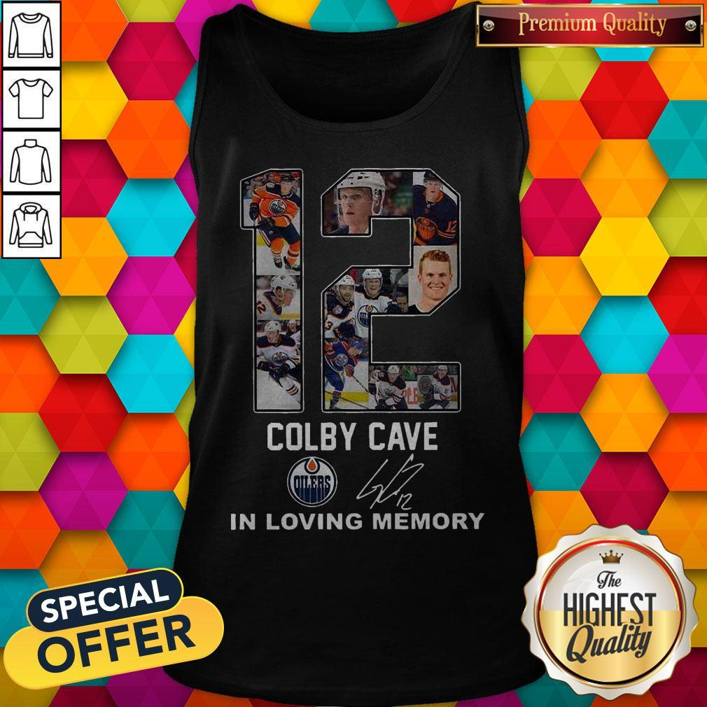12 Colby Cave Oilers In Loving Memory Signature Halloween Tank Top