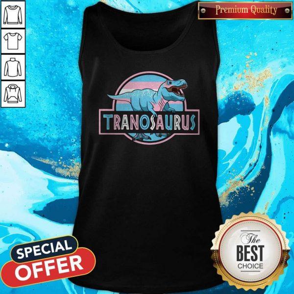 Awesome LGBT Tranosaurus Tank Top