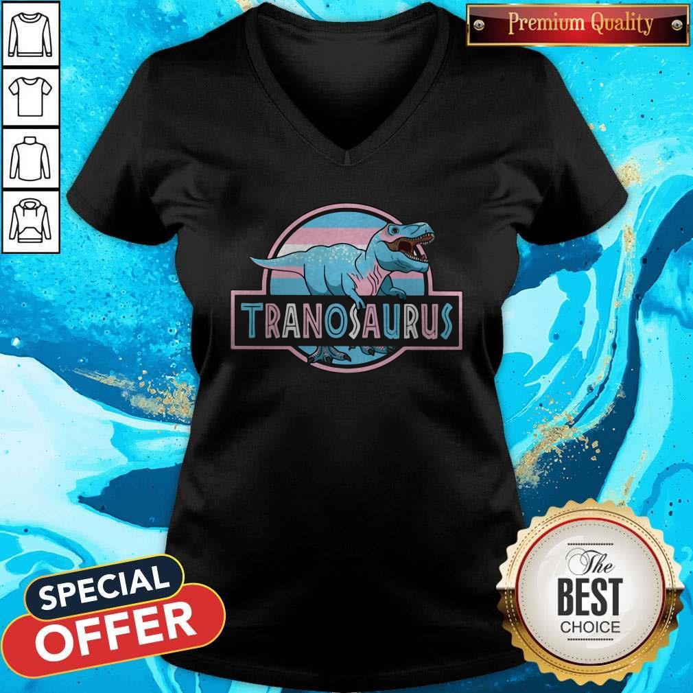 Awesome LGBT Tranosaurus V-neck