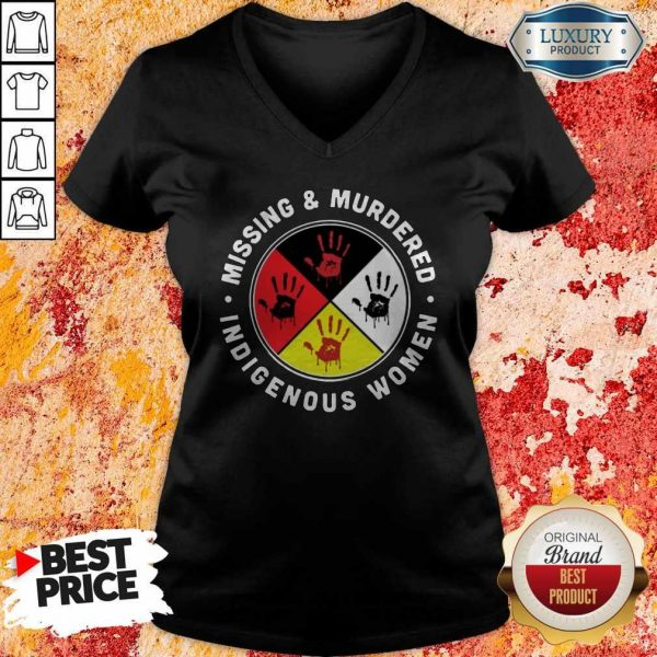 Funny Missing And Murdered Indigenous Women V-neck