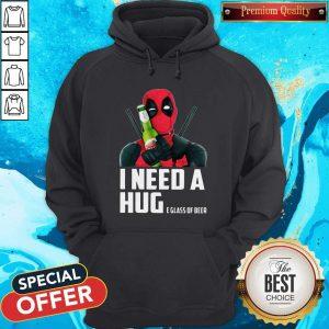 Nice Deadpool I Need A Huge Glass Of Beer Hoodie