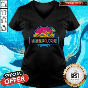 Premium LGBT Panasaurolophus V-neck