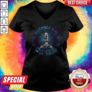 Sweet December Girl And A Little Go Yourself Yoga HoodieSweet December Girl And A Little Go Yourself Yoga V-neck