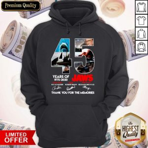 45 Years Of 1975 2020 Jaws Thank You For The Memories Signatures Hoodie