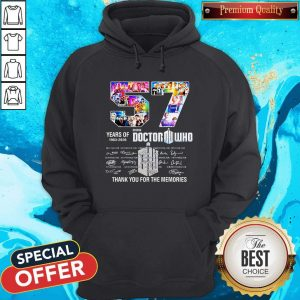 57 Years Of 1963 2020 Doctor Who Thank You For The Memories Signatures Hoodie