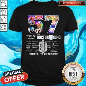 57 Years Of 1963 2020 Doctor Who Thank You For The Memories Signatures Shirt