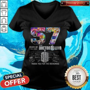 57 Years Of 1963 2020 Doctor Who Thank You For The Memories Signatures V-neck