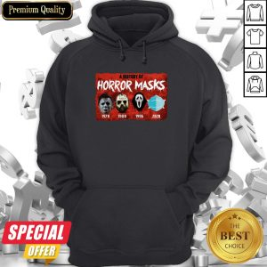 A History Of Horror Masks 1976 1980 1996 2020 Hoodie