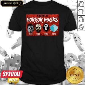 A History Of Horror Masks 1976 1980 1996 2020 Shirt