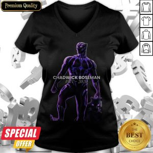 Actor Chadwick Boseman The Black Panther Marvel V-neck