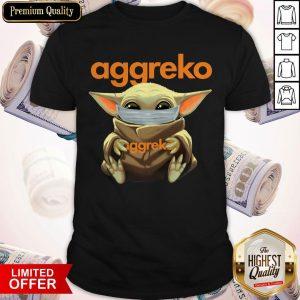 Baby Yoda Face Mask Hug Aggreko Shirt