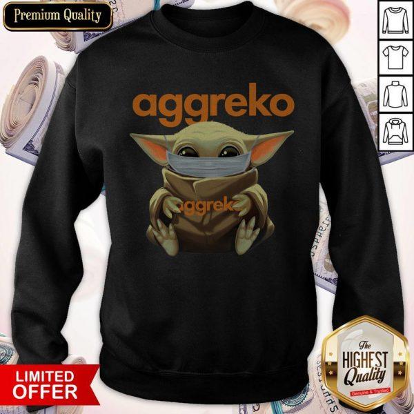 Baby Yoda Face Mask Hug Aggreko Sweatshirt