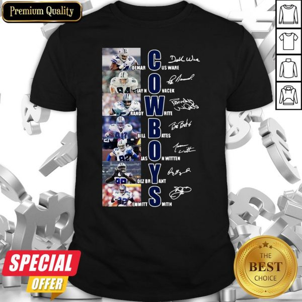 Dallas Cowboys Team Players Demarcus Ware Jay Novacek Signatures Shirt