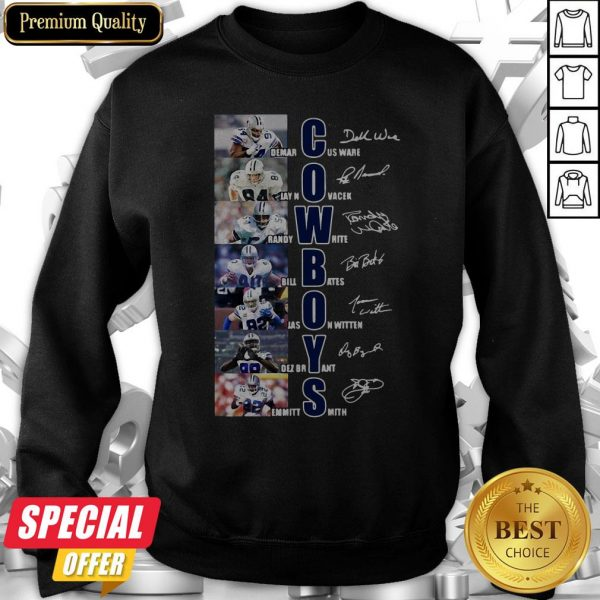 Dallas Cowboys Team Players Demarcus Ware Jay Novacek Signatures Sweatshirt