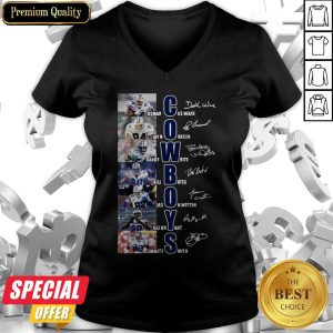Dallas Cowboys Team Players Demarcus Ware Jay Novacek Signatures V-neck