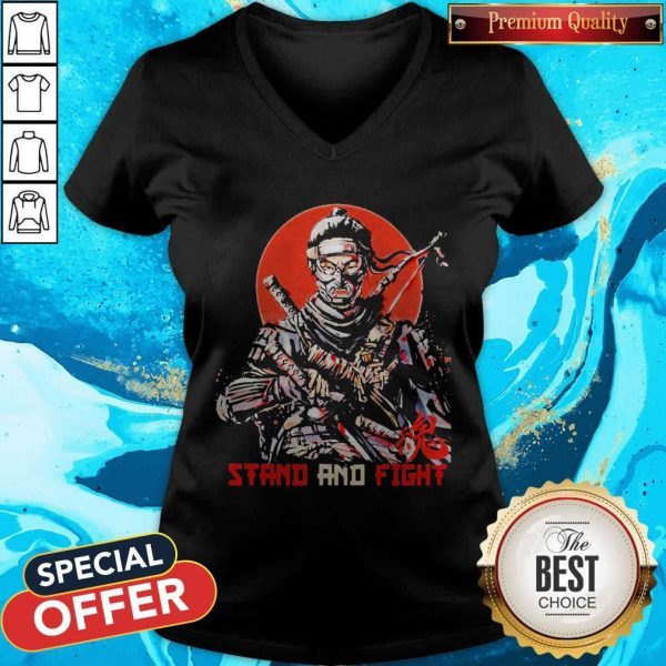 Ghost Of Tsushima Stand And Fight V-neck