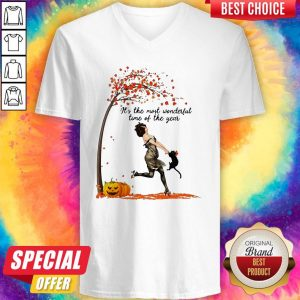 It_s The Most Wonderful Time Of The Year Fall Halloween V-neck