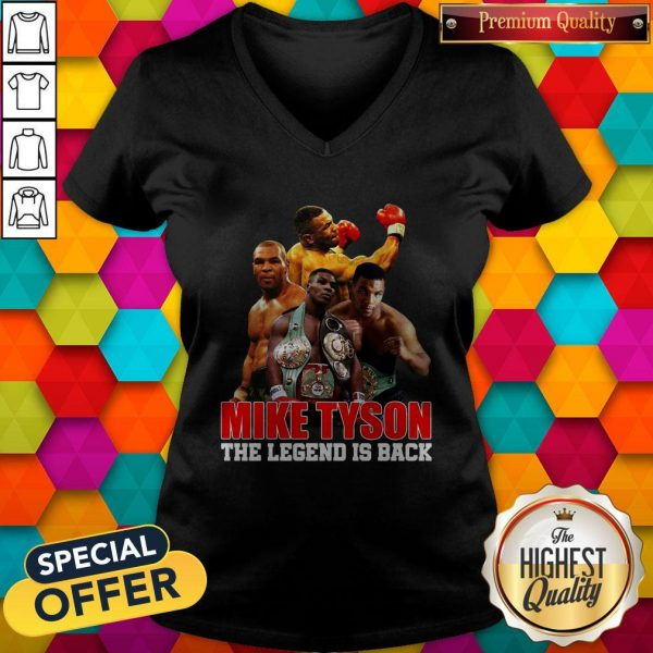 Mike Tyson The Legend Is Back V-neck