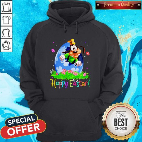 Nice Goofy Easter Egg Happy Easter Hoodie