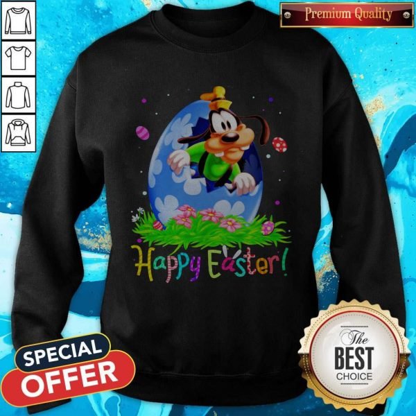 Nice Goofy Easter Egg Happy Easter Sweatshirt
