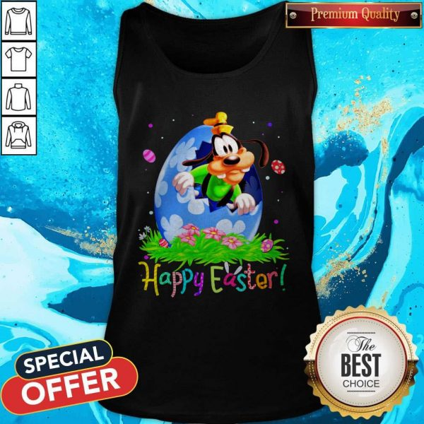 Nice Goofy Easter Egg Happy Easter Tank Top