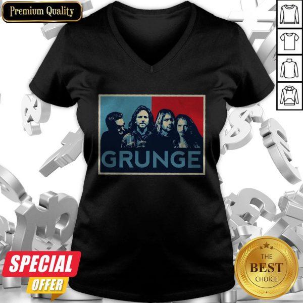 Nice Grunge Seattle Sound V-neck