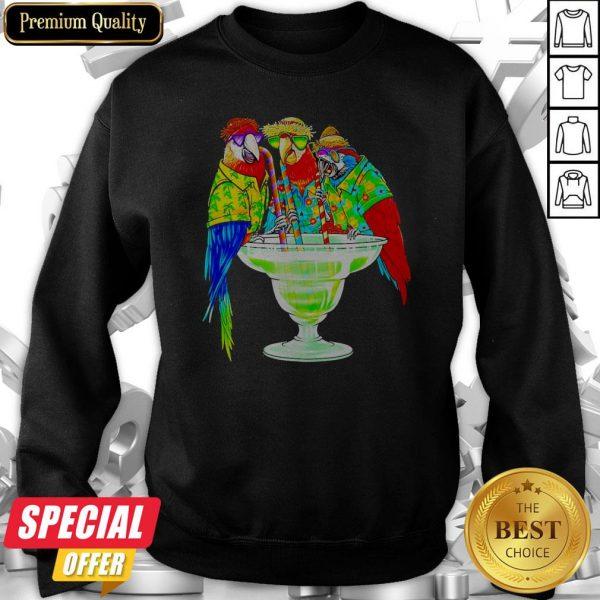 Nice Parrot Hawaii Drink Cotalk Sweatshirt
