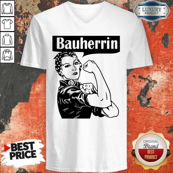 Nice Strong Woman Bauherrin V-neck