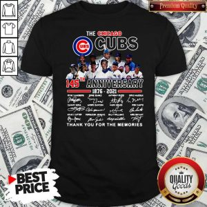 Official The Chicago Cubs 145TH Anniversary 1876 2021 Signatures Shirt