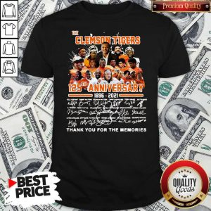 Official The Clemson Tigers 125TH Anniversary 1896 2021 Signatures Shirt