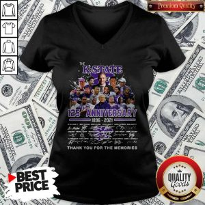 Official The K-state 125TH Anniversary 1896 2021 Signatures V-neck