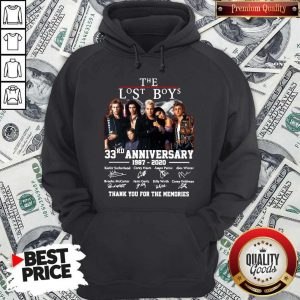 Official The Lost Boys 33rd Anniversary 1987 2020 Thank You For The Memories Signatures Hoodie