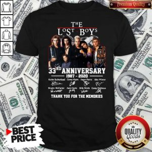 Official The Lost Boys 33rd Anniversary 1987 2020 Thank You For The Memories Signatures Shirt