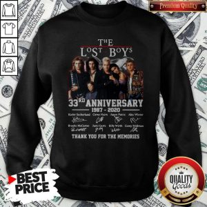 Official The Lost Boys 33rd Anniversary 1987 2020 Thank You For The Memories Signatures Sweatshirt