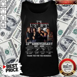 Official The Lost Boys 33rd Anniversary 1987 2020 Thank You For The Memories Signatures Tank Top