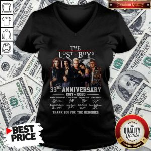 Official The Lost Boys 33rd Anniversary 1987 2020 Thank You For The Memories Signatures V-neck