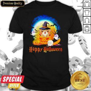 Otter Pumpkin Ghost Happy Halloween Shirt
