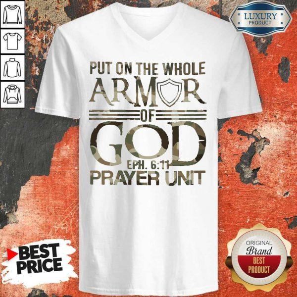 Put On The Whole Armor Of God Eph 611 Prayer Unit V-neck
