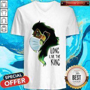 Scar Lion Face Mask Long Live The King V-neck