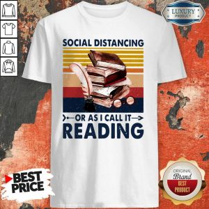 Social Distancing Or As I Call It Reading Vintage Shirt
