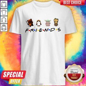 Star Wars Porgs Baby Yoda Baby Groot Friends Shirt