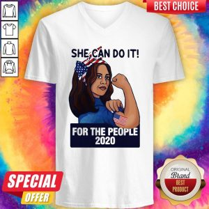 Strong Woman She Can Do It For The People 2020 V-neck
