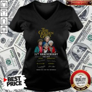 The Golden Girls 35th Anniversary 1985 2020 Thank You For The Memories Signatures V-neck