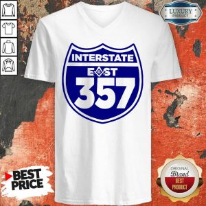 Traveling East Interstate East 357 V-neck