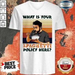 What Is Your Spaghetti Policy Here Vintage V-neck