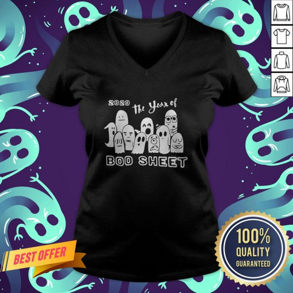2020 Ghost The Year Of Boo Sheet Halloween V-neck