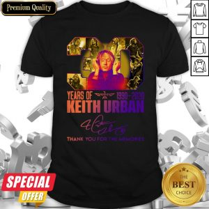 30 Years Of Keith Urban 1990 2020 Thank You For The Memories Shirt