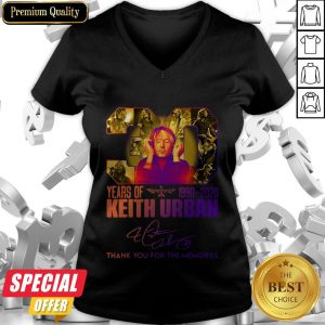 30 Years Of Keith Urban 1990 2020 Thank You For The Memories V-neck