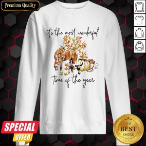 Autumn Horse It's The Most Wonderful Time Of The Year Sweatshirt