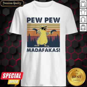 Baby Chicken Pew Pew Madafakas Vintage Retro Shirt